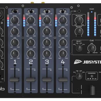 Table de mixage DJ avec 3 in micros et usb