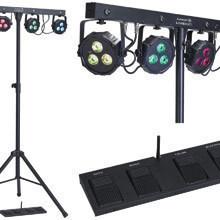 Set Barre 4 projecteurs RGBW + commande HF