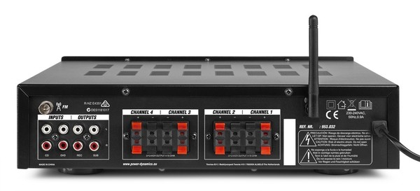 PV240BT AMPLIFICATEUR AUDIO 4 ZONES, 400 W