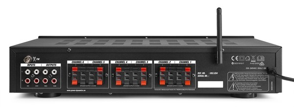 PV260BT AMPLIFICATEUR AUDIO 6 ZONES, 600W